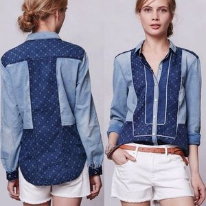 Holding Horses Patchwork Chambray Buttondown